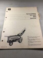 John Deere Jd21 Trencher Parts Catalog