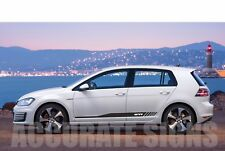VW GOLF GTI MK5 MK6 MK7 GRAPHICS SET STICKERS STRIPES CAR DECALS ANY COLOUR