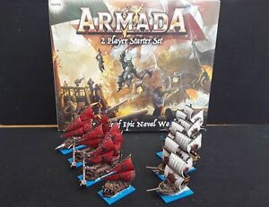 Mantic Armada 2 player starter set Mantic Games with well painted ships + glue
