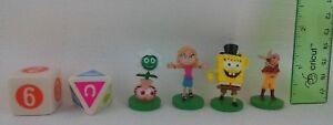 Nickelodeon Scene It Game 4 Character Token Set 2 Dice Mattel Replacement Part