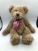 Russ Berrie Harlington Brown Teddy Bear Bow Tie Plush Kids Stuffed Toy Animal