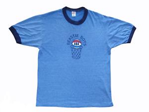 Vintage 90s Beastie Boys ABA Atwater Basketball Association Blue Ringer T-Shirt