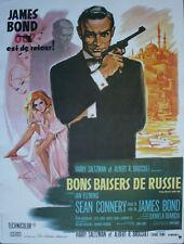 JAMES BOND BONS BAISERS DE RUSSIE Affiche cinema ROULEE 53x40 Movie Poster