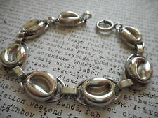 Vintage Napier Sterling Silver 925 Oval Link Bracelet   8591B