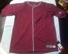 Under Armour men's Button Athletic Baseball Jersey medium nwt