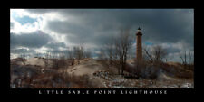 Poster Panorama Little Sable Point Lighthouse Panoramic Silver Lake Michigan
