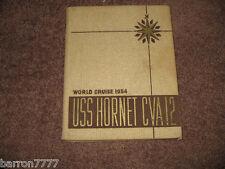 USS Hornet CVA-12  World Cruise 1954  NAVY CRUISE BOOK