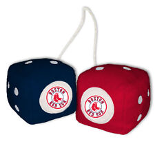BOSTON RED SOX PLUSH FUZZY DICE CAR MIRROR DANGLER MLB BASEBALL