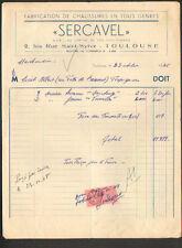 """TOULOUSE (31) USINE de CHAUSSURES """"SERCAVEL"""" en 1948"""