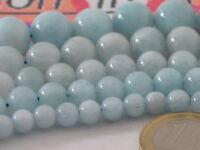 perle sciolte in acquamarina cabochon qualità milk A++ in 4 diametri a scelta