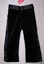 NWT Gymboree Glamour Kitty Black Velveteen Pants Girl's Sz 18-24M