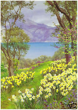 B Parsons - Lake View with Daffodils - MEDICI POSTCARDS