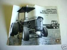 3 John Deere Tractor & Skid Steer & Backhoe Brochures