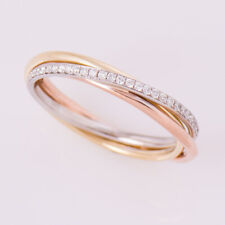 0.20 Carat Round Real Diamond Wedding Bridal Band 18K Rose Gold Size L M N O P Q