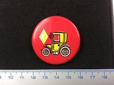 Pin Badge Historic Retro Car FIRST TAXI RENAULT Voiture Ancienne. Made in USSR.