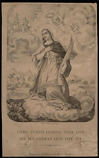 santino incisione1800 S.LUCIA V.M. in SAVONA
