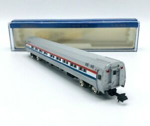 Bachmann N SCALE  Amtrak 85' Budd AMFLEET Lighted Coaches 21917