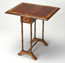 TABLES - MAYFAIR DROP LEAF TABLE - SIDE TABLE - OLIVE ASH BURL - FREE SHIPPING*