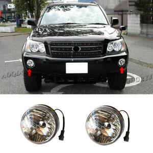 For Toyota Highlander KLUGER 2001-2003 Front Bumper Fog Lights DRL Lamp replace