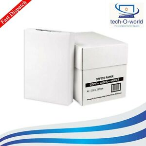 NEW BOX (2500 SHEETS, 5 REAMS) 80GSM WHITE A4 PAPER  PHOTOCOPY & PRINTING PAPER