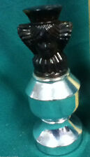 Silver queen chess piece Spicy Avon cologne after shave bottle bottles 1 WC6