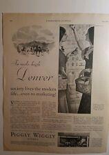 1930 Piggly Saltones Tiendas en Mile High Denver Colorado Vintage Anuncio