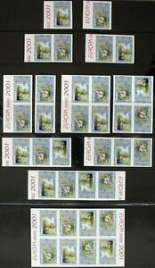 S743) Georgia Cept 2001 H-Sheet + Zd 36 St Unperforated Kpl Collection