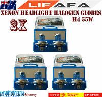 2x 55W 12V 5000K H4 Super White Headlight Xenon Halogen Globes Car Light Bulb LF