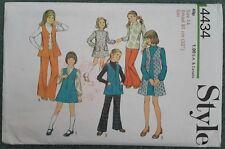 Vintage 1970s Girls Pinafore Dress Tunic Trousers Pattern (Style #4434)