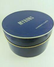 Vintage Hat Box Myrons Harrisburg Illinois Advertising Store Mid Century Blue