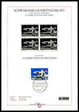 SCHWEIZ SD SCHWARZDRUCK-ETB 1988 PRO AERO AVIATION PLANE BLACK PRINT LTD ze39