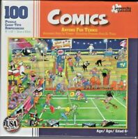PUZZLE, COMICS, ANYONE FOR TENNIS, 100 PIECES, UNOPENED