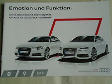 AUDI A6 & A7 SPORTBACK S LINE selezione & Business Packet opuscolo NOV 2013