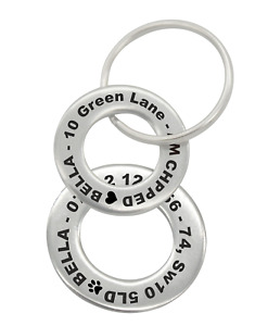 Personalised Engraved Pet Disc Dog ID Tag Steel Washer Tags with Free Engraving