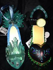 Disney FROZEN Princess ELSA and ANNA Shoe Slipper High Heels ORNAMENT SET