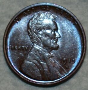 Brilliant Uncirculated 1915-D Lincoln Cent, Attractively toned specimen.