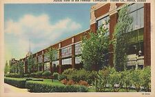 Partial View of Famous Caterpillar Tractor Co. Peoria IL Postcard