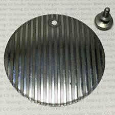 Singer Sewing Machine Round/Back/Oil Plate - Striated - 15-91/66/128/201-2++