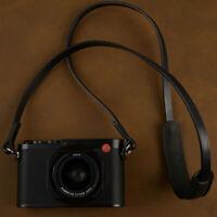 Vintage Genuine Leather Camera Neck Shoulder Strap for Leica Canon DSLR Black