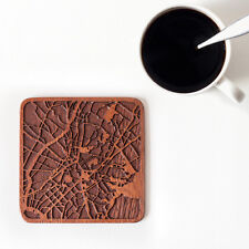 Athens map coaster One piece wooden coaster Multiple city IDEAL GIFTS