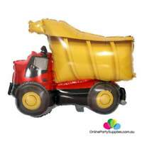 "32"" Jumbo Yellow Dumper Truck Shape Helium Foil Balloon Construction Theme Party"