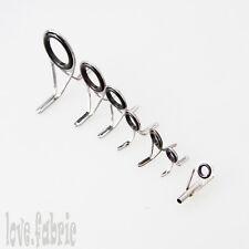 Lot 6pcs Fishing Rod Guide & 1pcs Tips Line Guid Fishing Tackle Repair Eye