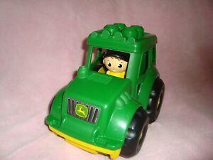 Mega Bloks First Builders John Deere flip top Lil Tractor & Farmer Man