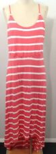 Forever 21 Women's 2XL Dress Spaghetti Straps Hi Low Maxi Stripes Knit F128