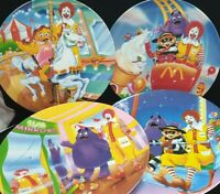 4 X McDonald's Plates Carnival Theme 1993, Vintage Collectables - SEE VIDEO!
