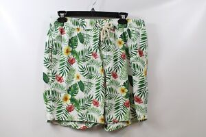 7 Diamonds Men's Drawstring Printed Shorts Hawaiian Floral size Medium