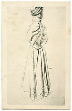 ARTIST SIGNED. PAUL CéSAR HELLEU. JOLIE FEMME ELEGANTE. GORGEOUS WOMAN. LADYLIKE