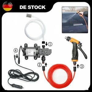 12V 100W 160PSI Auto Hochdruckreiniger Reiniger Wasser Waschpumpe Sprühgerät DE