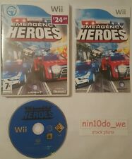 EMERGENCY HEROES (Wii)=999 Police Cars+Fire Engine Trucks Rescue/Racing=NR MINT✔