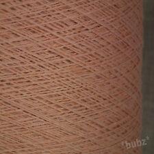 Hermoso Suave Lana Merino mezcla de melocotón rosa Melange 500g Cono 10 Ball 3 capas de hilados